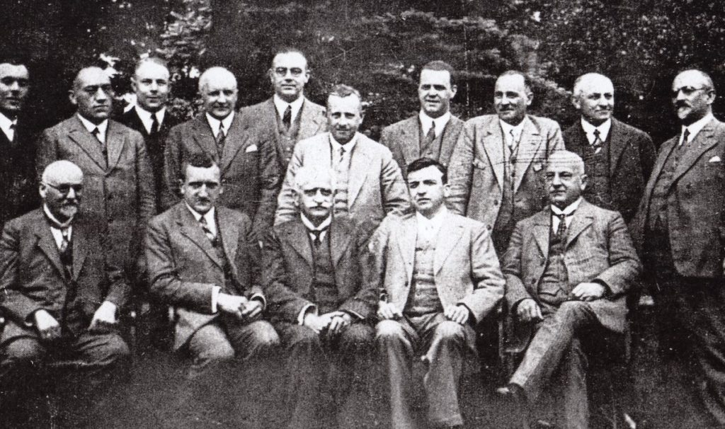 Gruppenbild mit Gustav und Robert Rheinberger